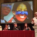 Tres Poetas por Venezuela libre y democrática Armando Rojas Guardia, José Pulido y Hebe Munoz